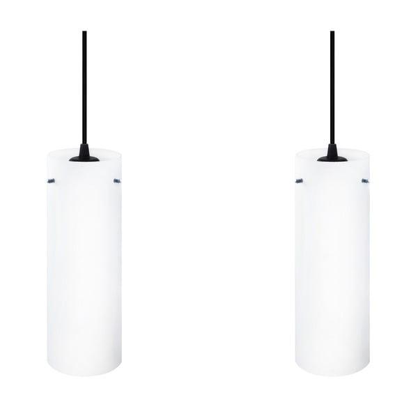 Podwójna lampa Paipu Elementary, mleczna matowa/czarna/czarna /czarna