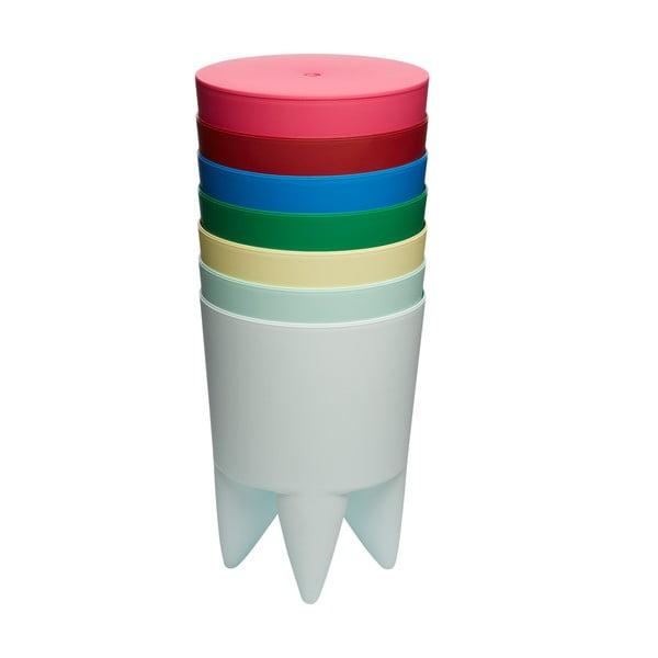 Stolik, schowek i cooler do butelek w jednym Bubu, przezroczysty biały