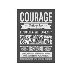 Plakat autorski Courage Grey, A3