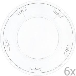 Zestaw 6 talerzy Libellules, 32 cm