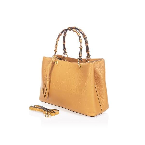 Skórzana torebka Markese 5028 Cognac