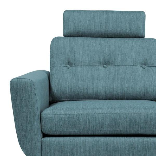 Niebieski zagłówek do sofy Vivonita Harlem