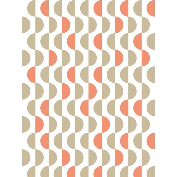 Fizelinowa tapeta Lentils Coral, 0,53x10,05 m