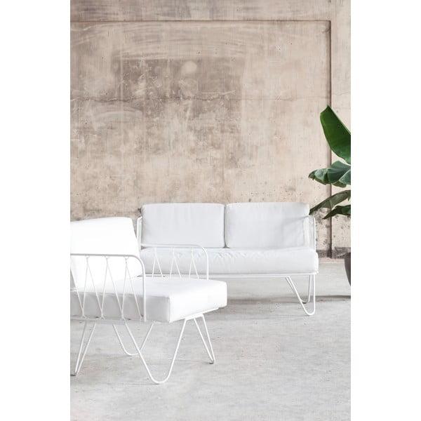 Biała ławka dla dwóch osób Serax Honore