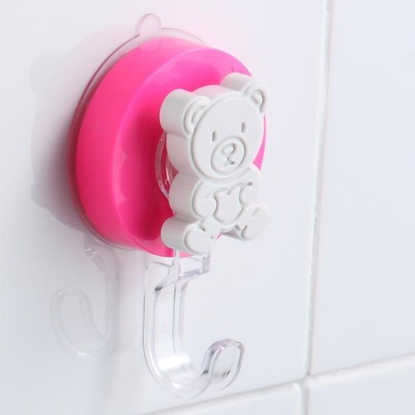 Haczyk z przyssawką ZOSO Bear Pink