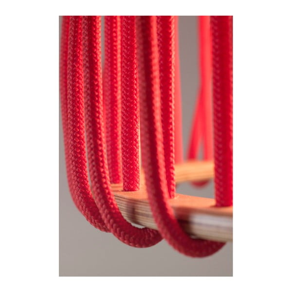 Czerwona lampa wisząca EMKO Macaron, 45 cm