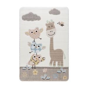 Kremowy dywan dziecięcy Confetti Owls, 133x190 cm