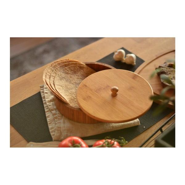 Pojemnik bambusowy na tortille Bambum Pekit, 20x20 cm