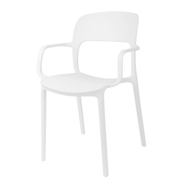 Zestaw 2 krzeseł D2 Flexi, z podłokietnikami, białe