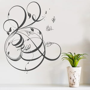 Naklejka dekoracyjna na ścianę Floral Motive