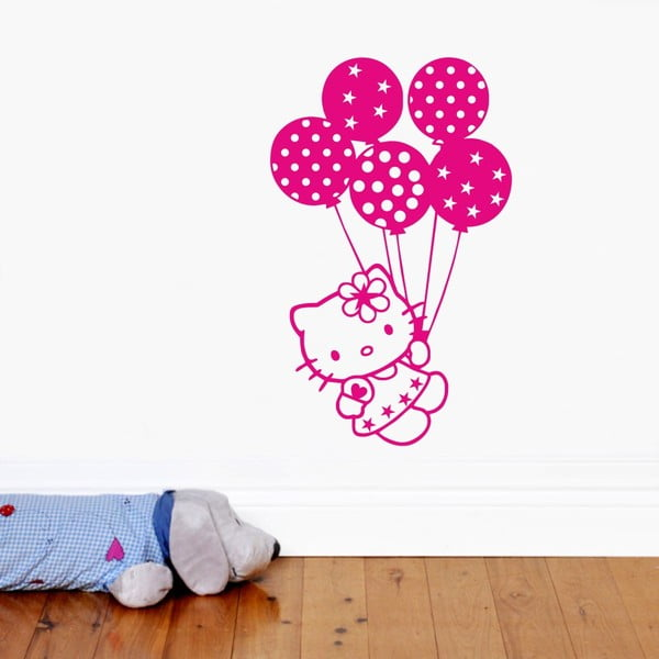 Naklejka ścienna Hello Kitty, róż