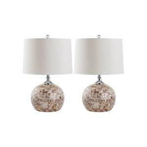 Zestaw 2 lamp stołowych Safavieh Branco