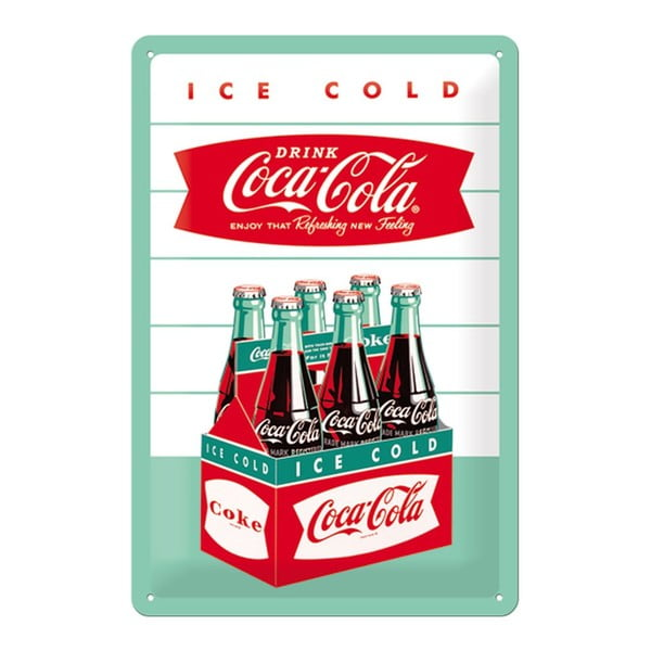 Blaszana tabliczka Ice Cold, 20x30cm