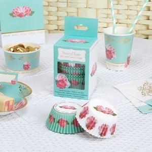 Zestaw 100 papierowych kokilek na cupcake'i Neviti Eternal Rose