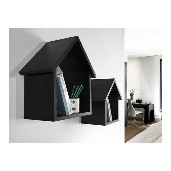 Zestaw 2 półek Maison Black