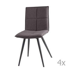Zestaw 4 jasnoszarych krzeseł sømcasa Zoe
