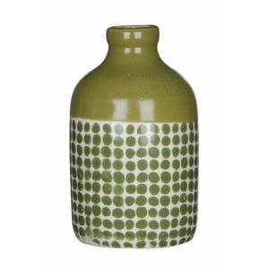 Zielony wazon ceramiczny Mica Fabio, 145x8,5 cm