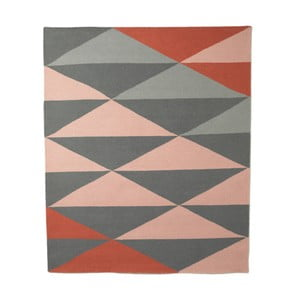 Wełniany dywan triangle 120x150 cm, różowy