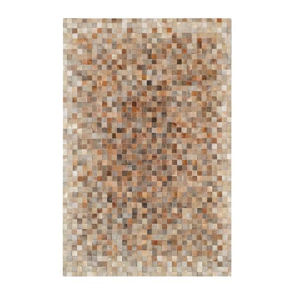 Dywan skórzany Sao Paulo Beige, 70x140 cm