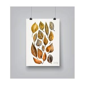 Plakat Americanflat Rusy Fall Leaves, 30x42 cm