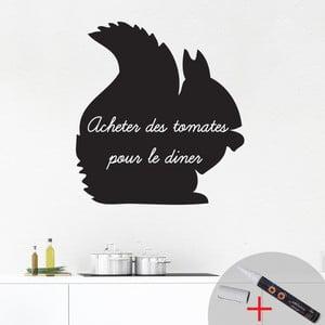 Tablica samoprzylepna z kredowym flamastrem Fanastick Squirrel