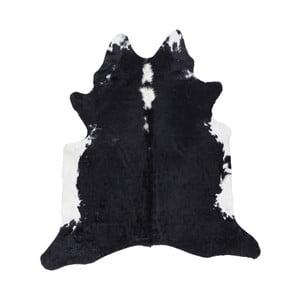 Czarno-biała skóra dekoracyjna Western, 155x220 cm