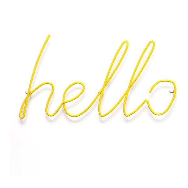 Żółty wieszak Hello Coat