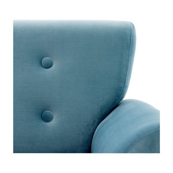 Jasnoniebieski fotel Vivonita Klara