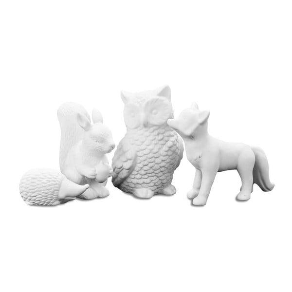 Zestaw 4 dekoracyjnych zwierzątek Forest Animal