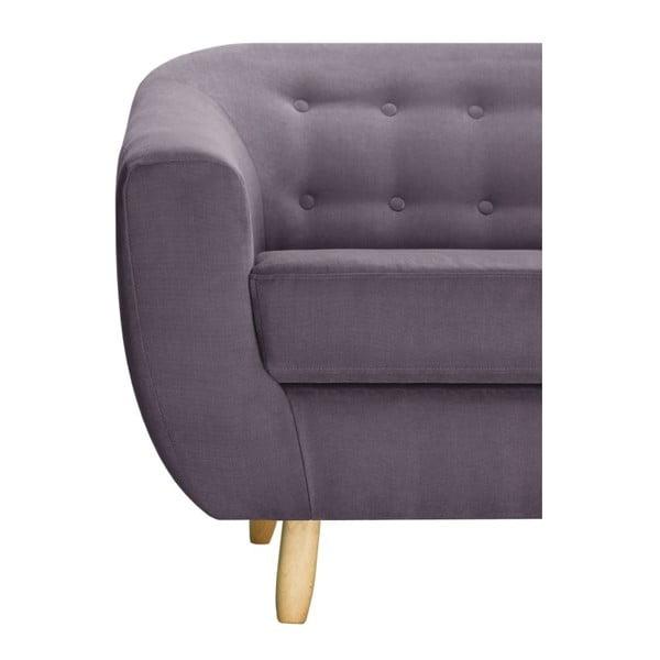 Ciemnofioletowa sofa 3-osobowa Jalouse Maison Vicky