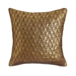 Złoto-brązowa poduszka Denzzo So Chic, 45 x 45 cm