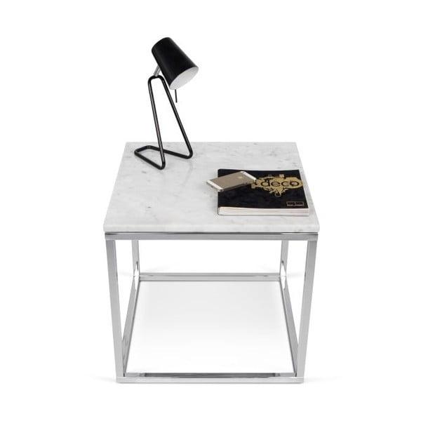 Biały stolik TemaHome Prairie Marble