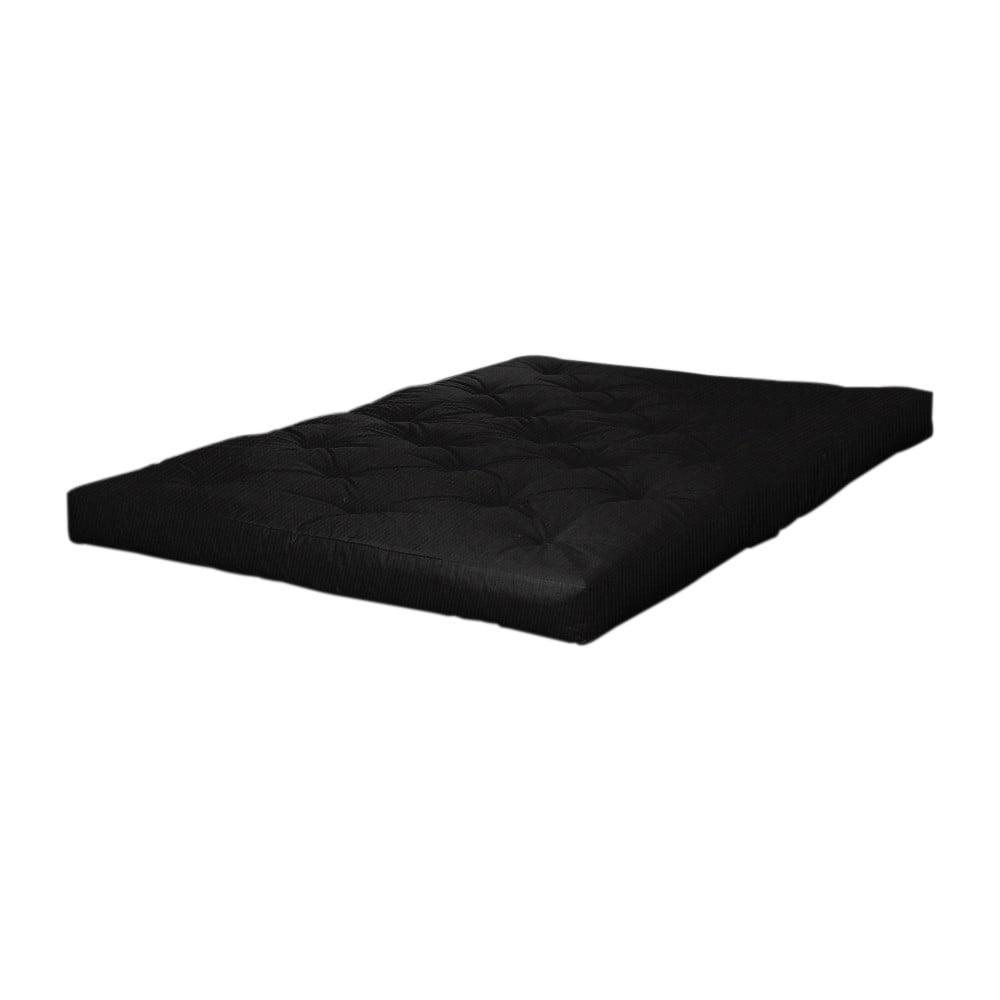 Czarny materac futonowy Karup Design Coco Futon,90x200cm
