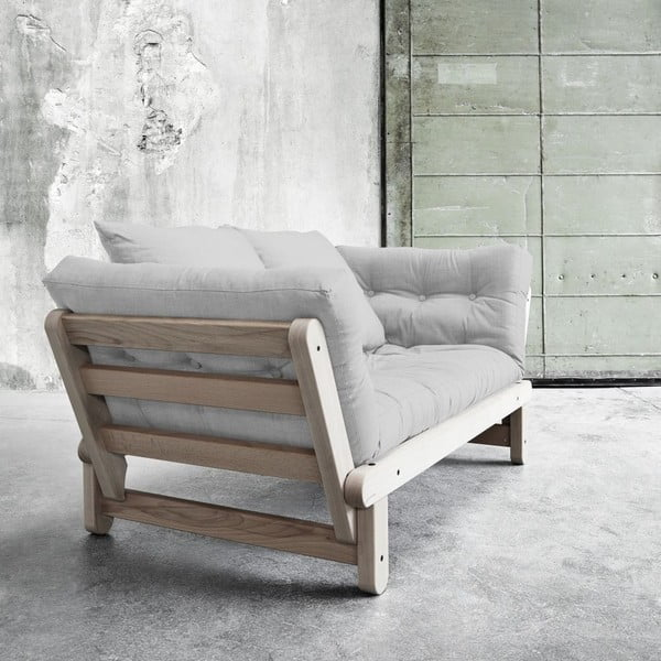 Sofa rozkładana Beat Beech/Light Grey