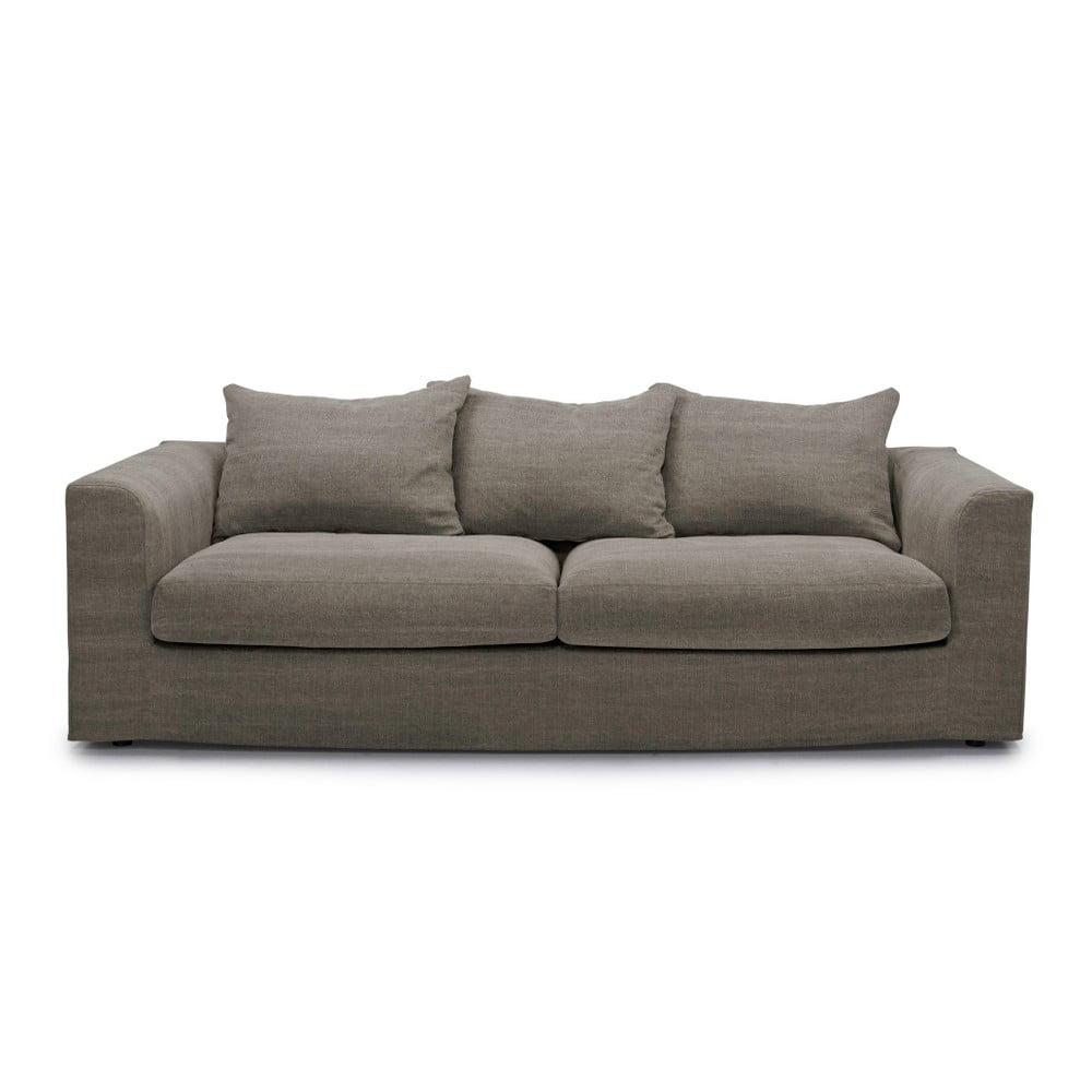 Ciemnobrązowa sofa 3-osobowa SoftNord Portland