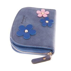Mały portfel Wildflowers, granatowy