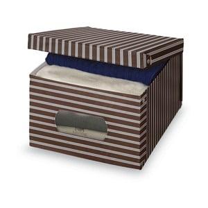 Brązowo-szare pudełko Domopak Living, duże