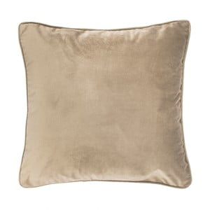 Jasnobeżowa poduszka Tiseco Home Studio Velvety, 45x45 cm