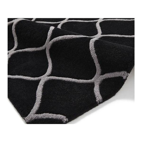 Dywan wełniany Elements Black, 120x170 cm