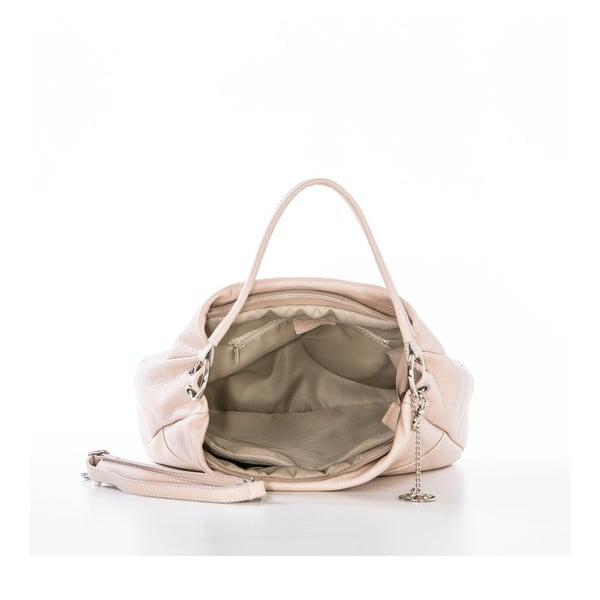 Skórzana torebka Alessandro, pudrowa