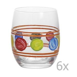 Zestaw 6 szklanek Summer Orange