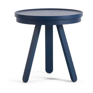 Niebieski stolik z tacą Woodendot Batea S