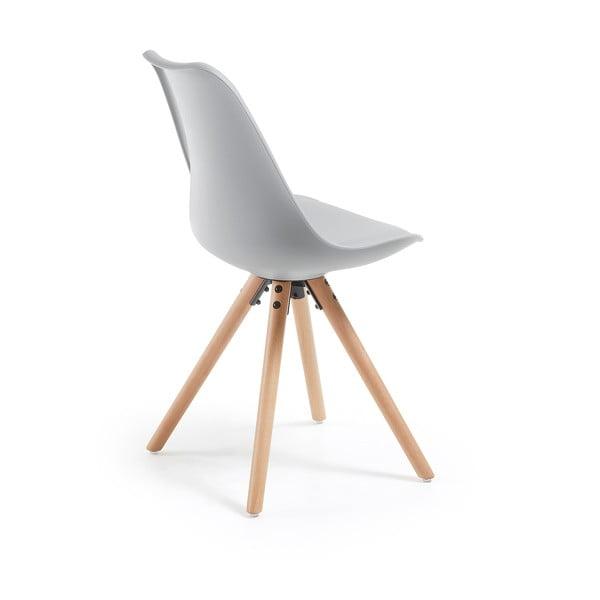 Zestaw 4 szarych krzeseł jadalnianych La Forma Lars
