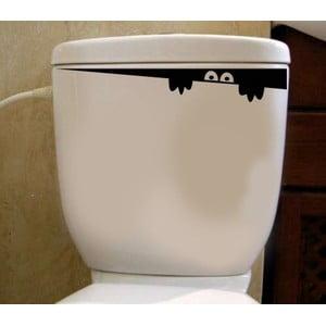 Naklejka winylowa do toalety W ukryciu