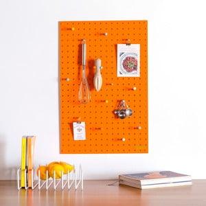 Pomarańczowa tablica wielofunkcyjna Pegboard Medium, 61x81cm