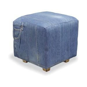 Podnóżek z drewna tekowego Bluebone Denim,35x40cm