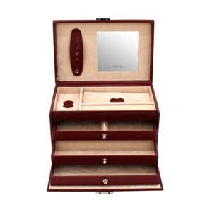 Szkatułka na biżuterię Classico Red, 24x15x16 cm