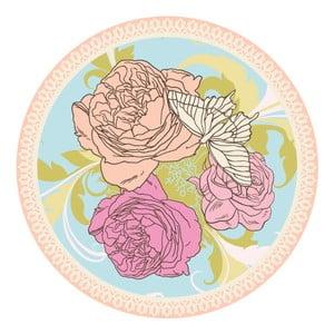 Zestaw 2 mat stołowych Flower Illustration