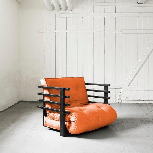 Fotel rozkładany Karup Funk Black/Orange