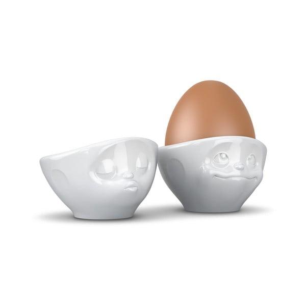 Białe kieliszki na jajka 58products Zakochana para